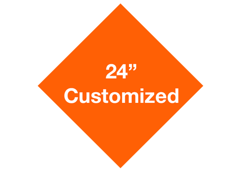 "CUSTOMIZED - 24"" Orange Diamond - Set of 2"
