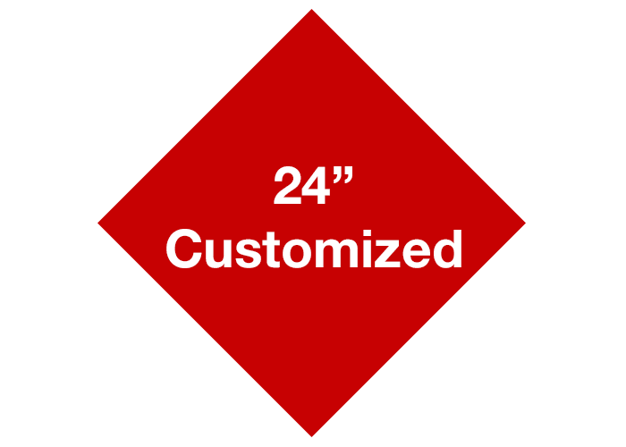 "24"" Red Diamond Custom Safety Floor Signs"