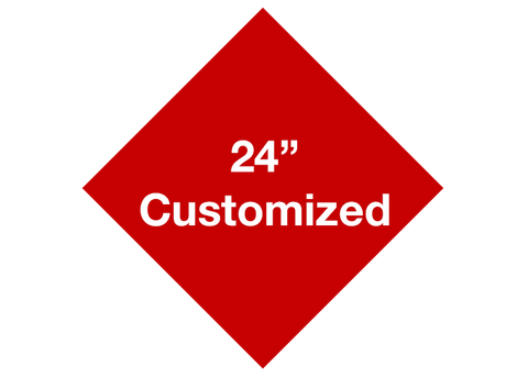 "CUSTOMIZED - 24"" Red Diamond - Set of 2"