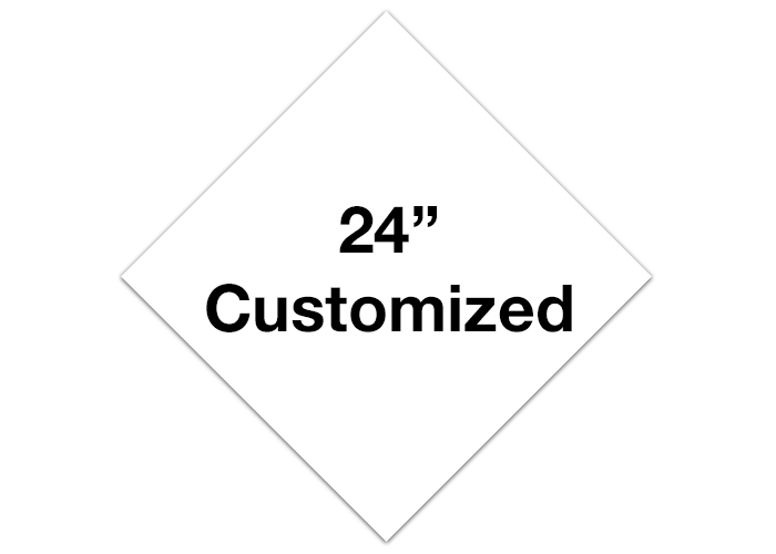 "White 24"" Diamond Custom Floor Tape Markings"