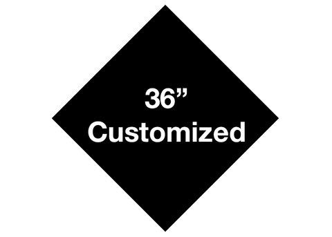 "CUSTOMIZED - 36"" Black Diamond - Set of 1"