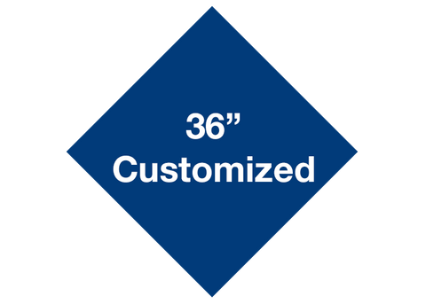 "CUSTOMIZED - 36"" Blue Diamond - Set of 1"