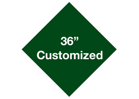 "CUSTOMIZED - 36"" Green Diamond - Set of 1"