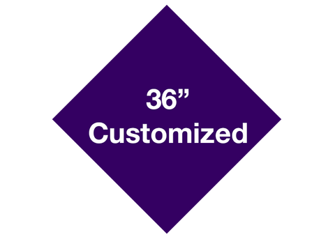 "CUSTOMIZED - 36"" Purple Diamond - Set of 1"