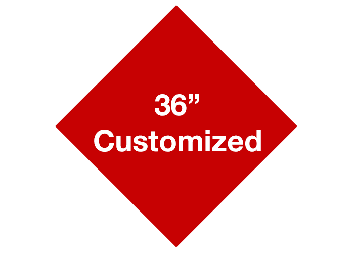 "Red 36"" Diamond Custom Safety Floor Signs"