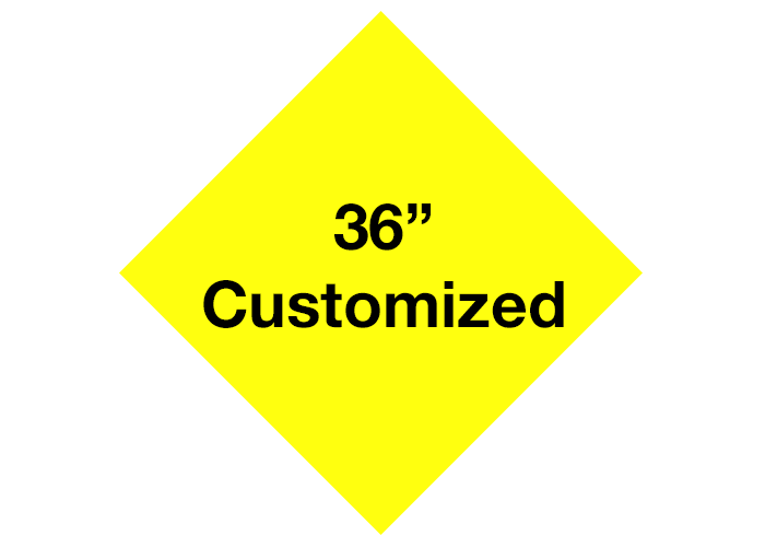 Yellow Diamond Custom Floor Tape Safety Marking