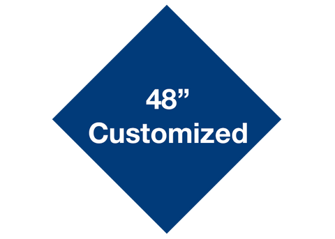 "CUSTOMIZED - 48"" Blue Diamond - Set of 1"
