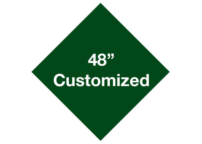 "48"" Green Diamond Custom Floor Tape Markings"