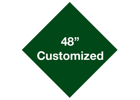 "CUSTOMIZED - 48"" Green Diamond - Set of 1"