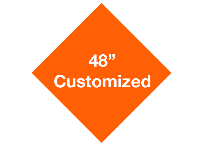 "48"" Diamond Customized Floor Tape Safety Marking"