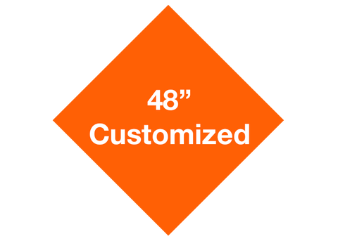 "CUSTOMIZED - 48"" Orange Diamond - Set of 1"