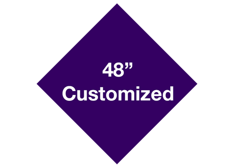 "CUSTOMIZED - 48"" Purple Diamond - Set of 1"