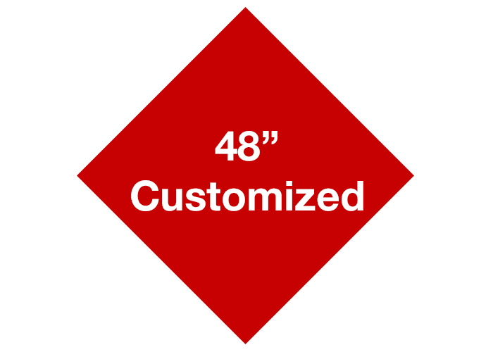 "Red 48"" Diamond Custom Safety Floor Signs"