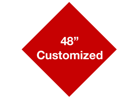 "CUSTOMIZED - 48"" Red Diamond - Set of 1"