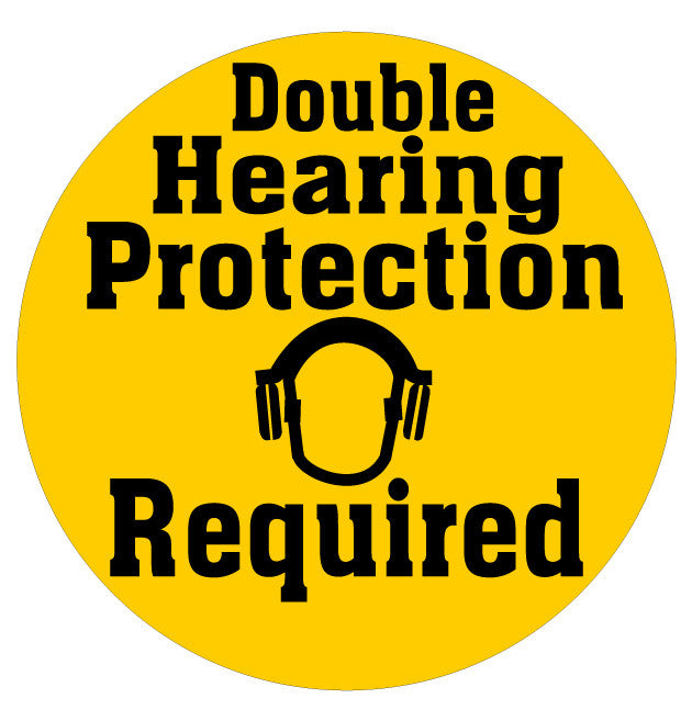 "24"" Double Hearing Protection Floor Sign"