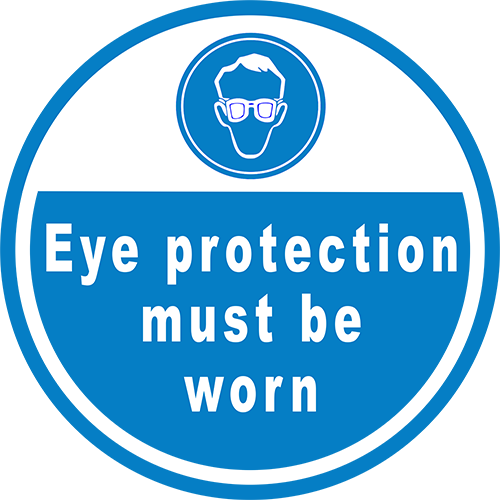 Eye Protection Must Be Worn Floor Sign