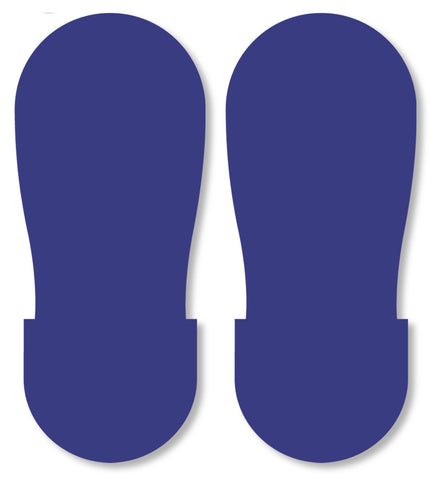 Mighty Line Blue Safety Footprint Floor Decals - Big Feet