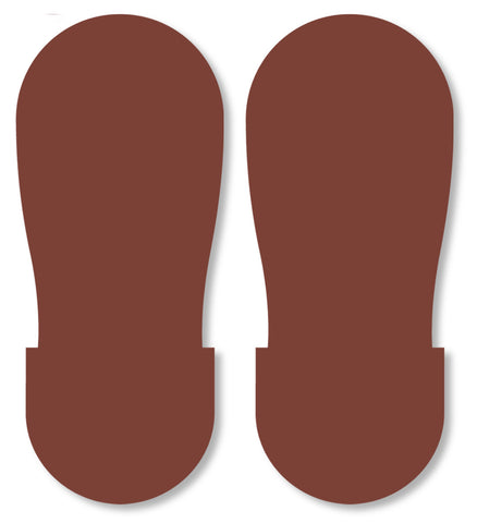 Mighty Line Brown Footprint Floor Markings - Big Feet