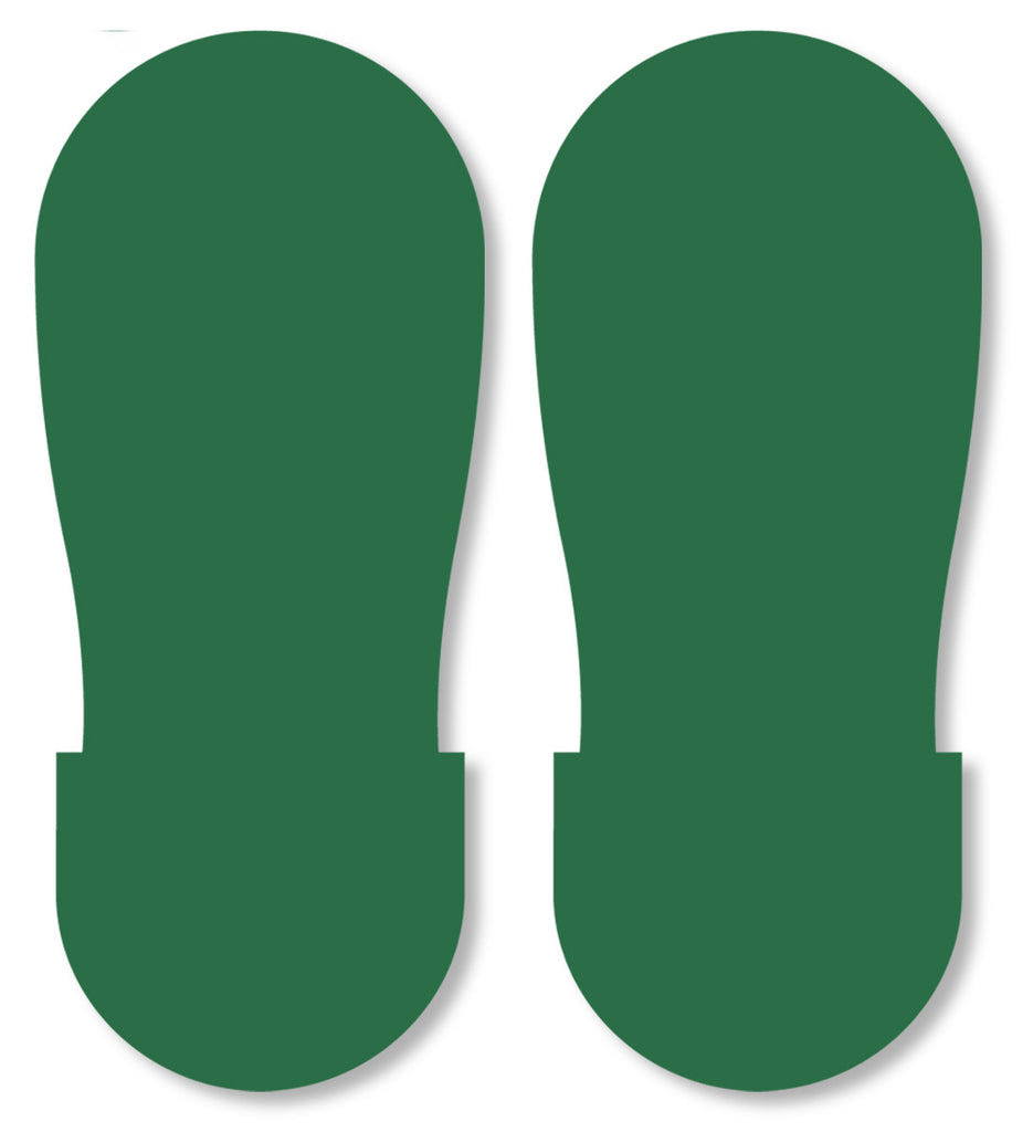 Mighty Line Green Industrial Footprint Decals