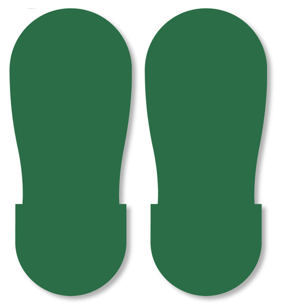 Mighty Line Green Industrial Footprint Decals Industrial