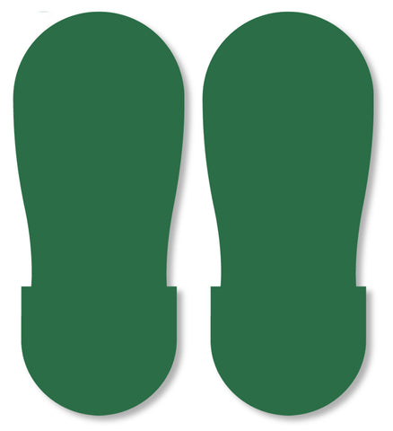 Mighty Line Green Industrial Footprint Decals - Big Feet