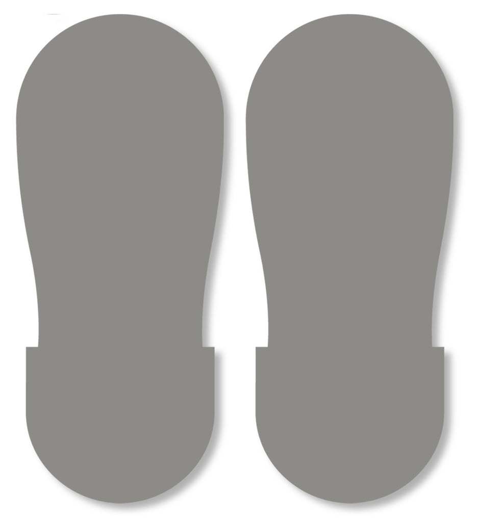 Mighty Line Gray Safety Footprint Floor Decals