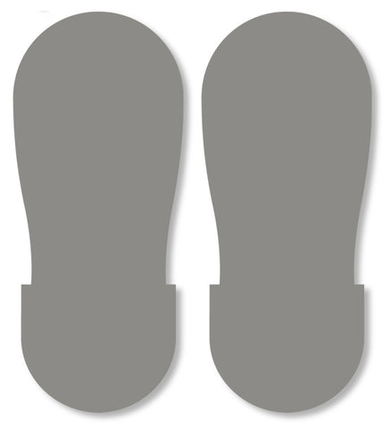 Mighty Line Gray Safety Footprint Floor Decals - Big Feet