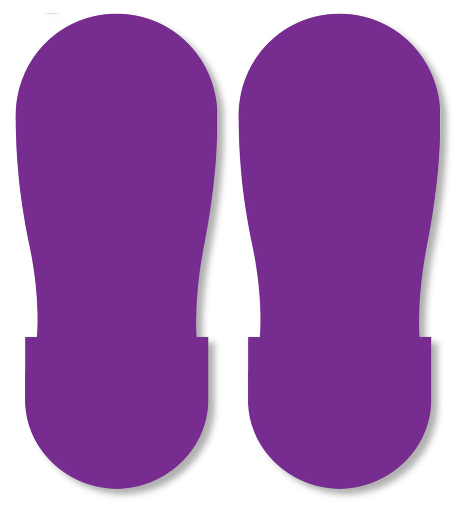 Purple Safety Footprint Floor Decals - Mighty Line