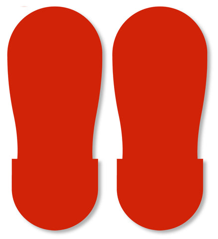 RED BIG Footprint - Pack of 50