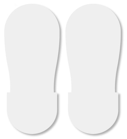 Mighty Line White Warehouse Footprint Floor Decals - Big Feet