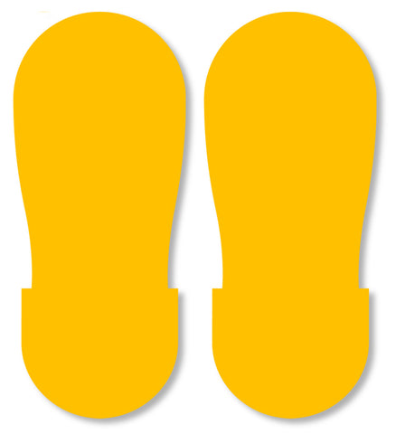 Yellow BIG Footprint - Pack of 50