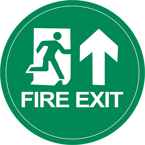Fire Exit Floor Sign