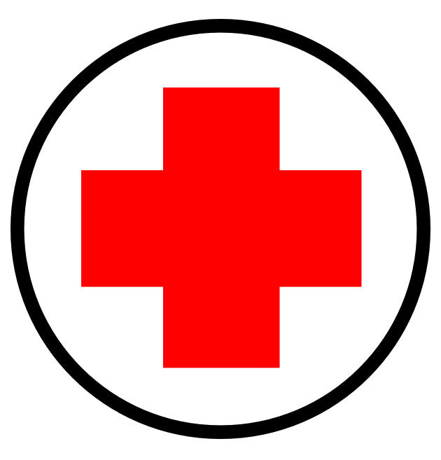 "24"" First Aid Station Here Floor Signage"
