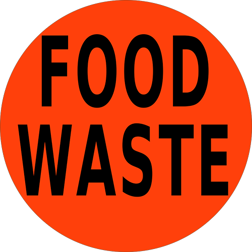 Food Waste Floor Sign