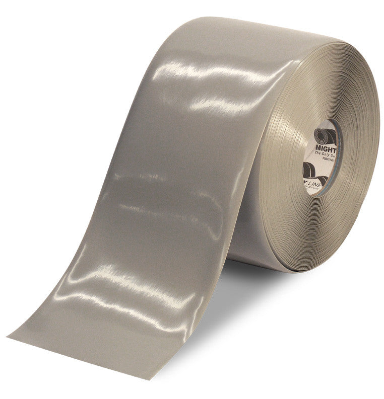 6 Inch Gray Custom Floor Marking Tape