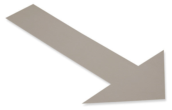 Gray Safety Floor Arrows - Mighty Line