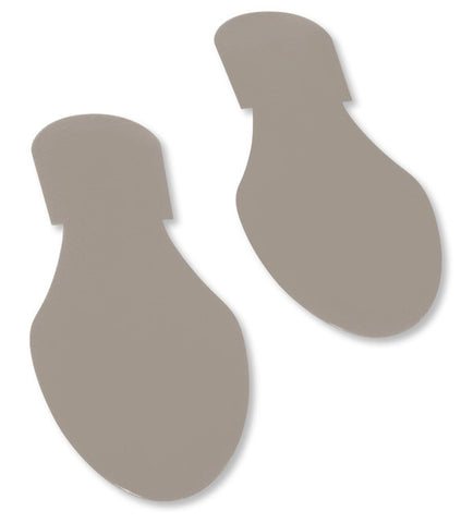 Gray Mighty Line Floor Tape Footprints - Pack of 50