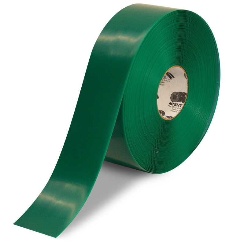 "CUSTOMIZED - 3"" GREEN Solid Color Repeating Message Tape - 100'  Roll"