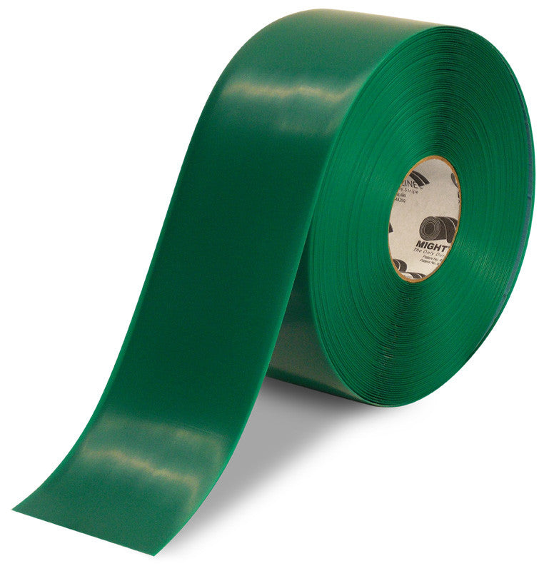 "4"" Green Solid Color Tape - 100'  Roll"