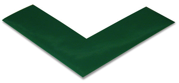 "2"" Green Floor Tape Corners"