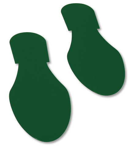 Green Mighty Line Floor Tape Footprints - Pack of 50