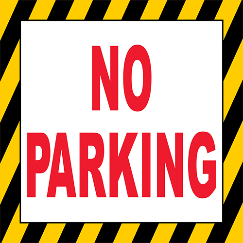 No Parking Floor Sign