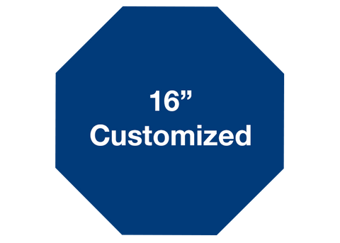 "CUSTOMIZED - 16"" Blue Octagon - Set of 3"