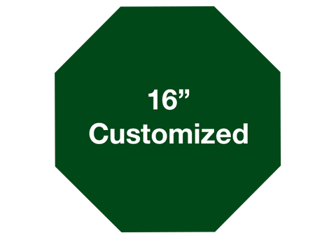 "CUSTOMIZED - 16"" Green Octagon - Set of 3"