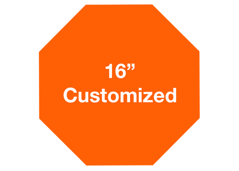 "CUSTOMIZED - 16"" Orange Octagon - Set of 3"