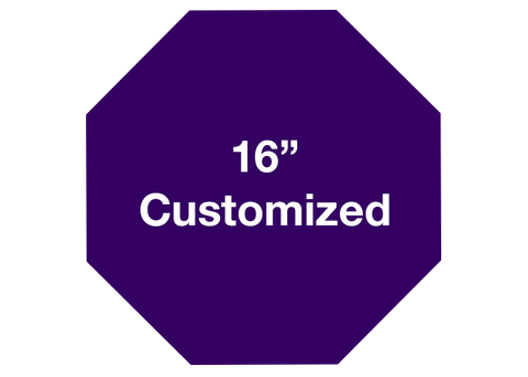 "CUSTOMIZED - 16"" Purple Octagon - Set of 3"