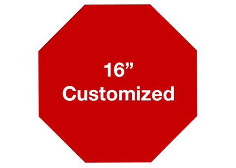 "CUSTOMIZED - 16"" Red Octagon - Set of 3"