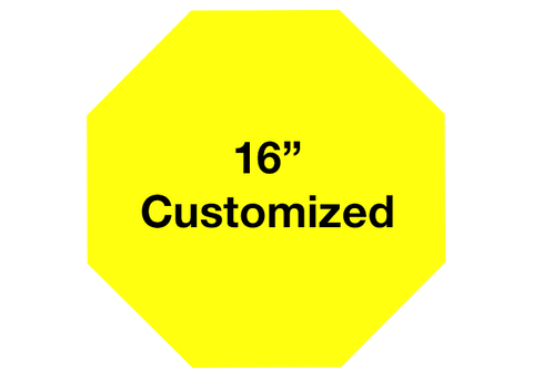 "CUSTOMIZED - 16"" Yellow Octagon - Set of 3"