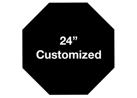 "CUSTOMIZED - 24"" Black Octagon - Set of 2"