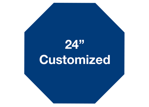 "CUSTOMIZED - 24"" Blue Octagon - Set of 2"